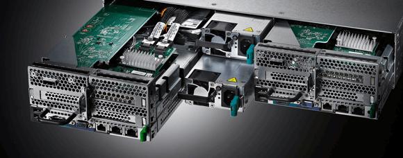Der Fujitsu PRIMERGY CX400 S2 ist auf Scale-Out ausgelegt und eignet sich vor allem für Cloud- und HPC-Projekte. Quelle: Fujitsu