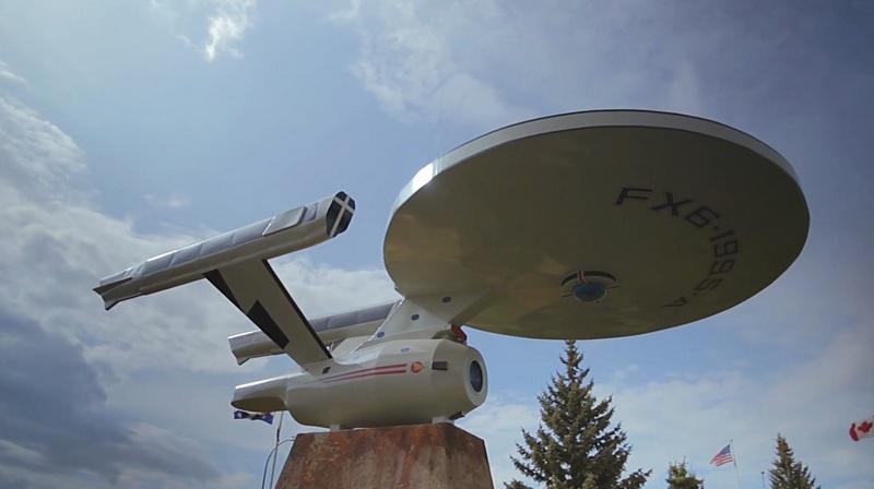 Ein Modell der USS Enterprise steht bereits in Vulcan. (Screenshot: silicon.de)