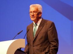 Winfried Kretschmann, Ministerpräsident des Landes Baden-Württemberg, sprach als Gastredner auf der Microsoft-Partnerveranstaltung in Mannheim. Quelle: Markus Strehlitz
