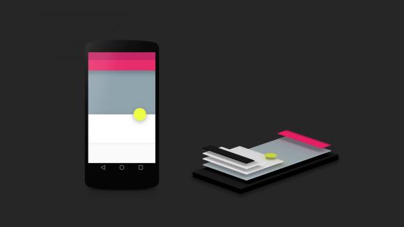 Das Material Design von Android 5.0 Lollipop erlaubt es Entwicklern, verschiedene Elemente ihrer Apps durch Schatten räumlich hervorzuheben (Bild: Google).