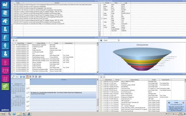 Sales Intelligence: Mit intelligenten Trigger Event-Funktionen in godesys ERP können Mitarbeiter in der neuen Version Ereignisse definieren. Wenn diese eintreffen, schickt das System Mitarbeitern geschäfts- und eventrelevante Informationen und Updates. Quelle: godesys