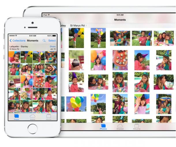 Die iOS Photo Library. Quelle: Apple