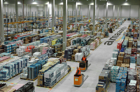 Arbeitsniederlegung im Amazon-Logistikzentrum Leipzig. Quelle: Amazon.de