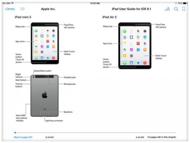 Apple hat versehentlich schon vor seiner Presseveranstaltung Bilder veröffentlicht, die das iPad Mini 3 und das iPad Air 2 zeigen (Screenshot: Stephen Shankland / CNET).