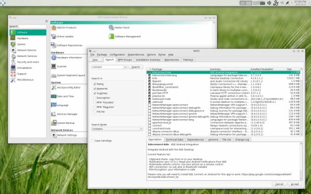 Das vollständig neu in Ruby erstellte Installations-Werkzeug YaST (Yet another Setup Tool) soll Linux-Neuligen den Einstieg in das Betriebssystem erleichtern. Quelle: OpenSUSE.org