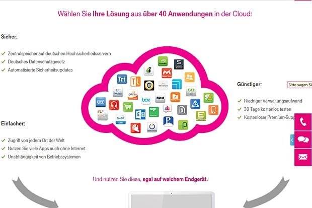 Derzeit bietet der Business Marketplace der Telekom mehr als 40 Anwendungen. (Grafik: Deutsche Telekom)