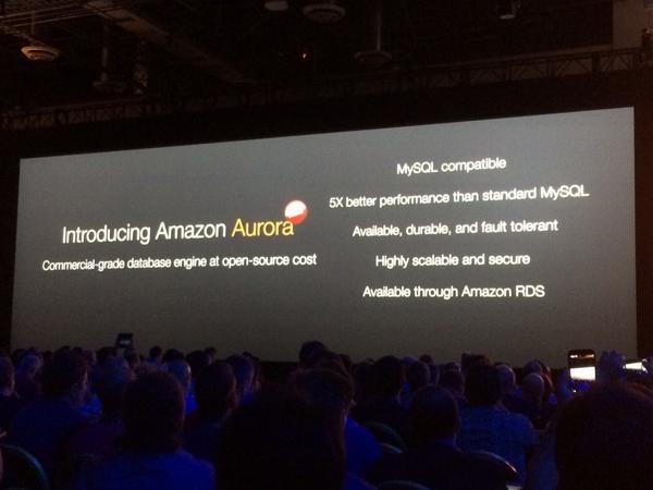 Amazon Aurora, die neue relationale Datenbank von AWS. (Bild: ZDNet.com)