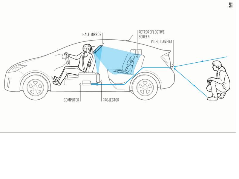 Japanische Forscher wollen den toten Winkel beim Autofahren beseitigen. (Screenshot: silicon.de/YouTube)
