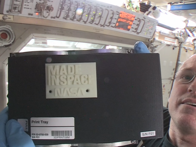 Erster 3D-Druck im Weltraum (Bild: NASA)