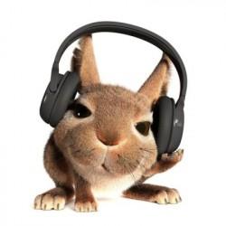 Hase mit Kopfhörer (Bild: Shutterstock/Oleg Zhevelev)
