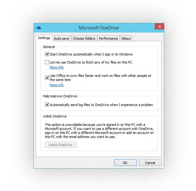 Nutzer von OneDrive können künftig festlegen, welche Ordner sie mit Windows 10 synchronisieren wollen (Bild: Microsoft).