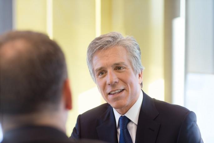 Bill McDermott, Vorstandsvorsitzender der SAP SE, vor seinem Unfall. Am Mittwoch ist der SAP-CEO zum ersten Mal seit Monaten wieder Öffentlich aufgetreten. (Bild: SAP)