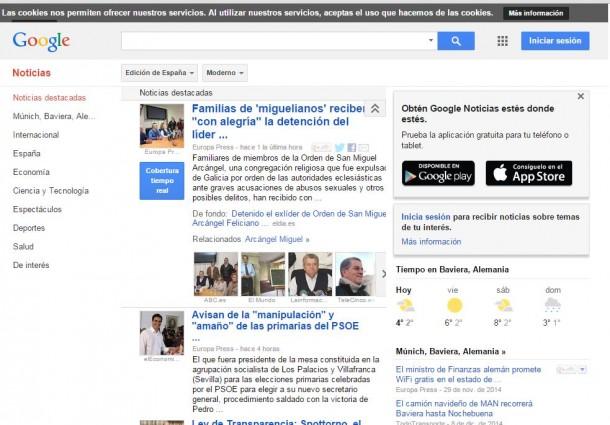 Google Noticias, die spanische Version von Google News geht bereits Mitte September vom Netz. Grund ist eine neues Gesetz, das Gebühren für News-Aggregatoren vorschreibt.