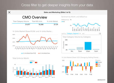 Microsoft Power BI auf iPad (Bild: Microsoft, via iTunes)