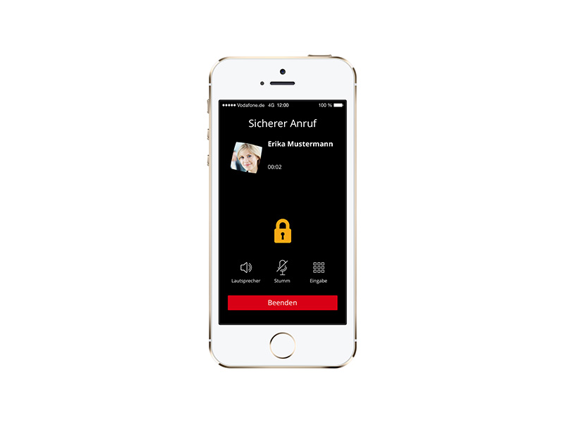 Vodafone Secure Call auf dem iPhone (Bild: Vodafone)