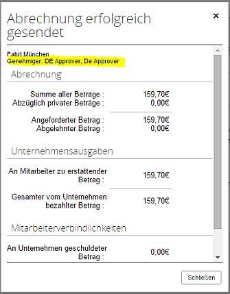 Automatisierte Freigabe von Reisekosten. (Bild: Concur)