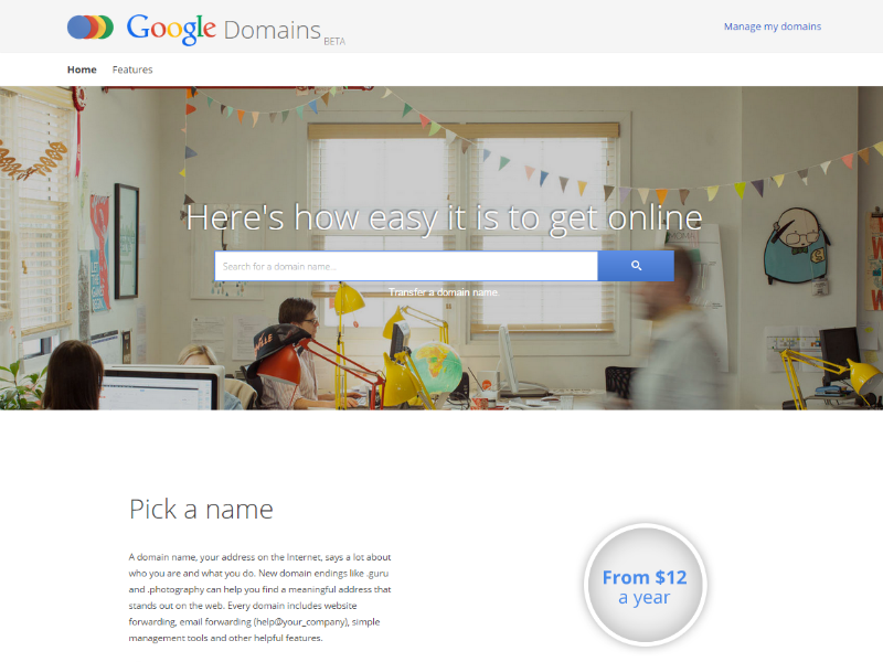 Google Domains (Screenshot ZDNet.de)