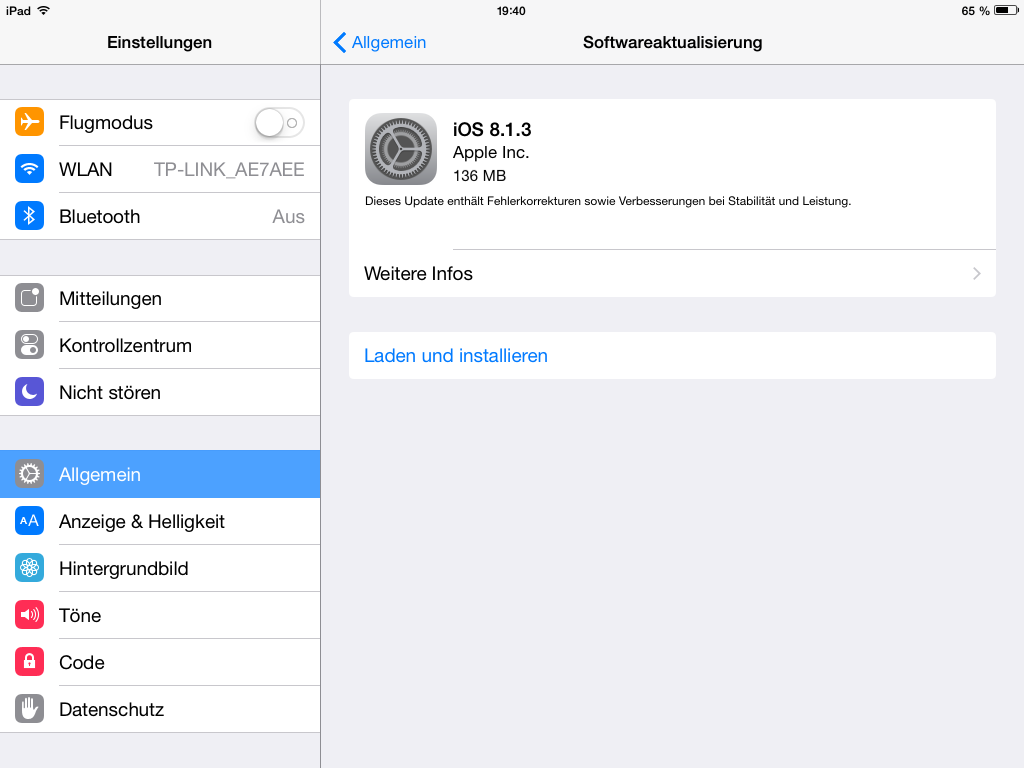 iOS 8.1.3 (Screenshot: ZDNet)