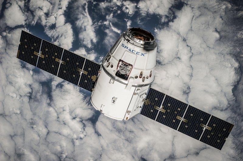 SpaceX CRS4-Dragon im Orbit. (Bild: SpaceX)