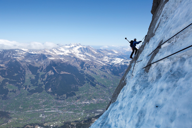 Eiger Nordwand in der App #project360. (Bild: PHOTOPRESS/MAMMUT/Daniel Bartsch)