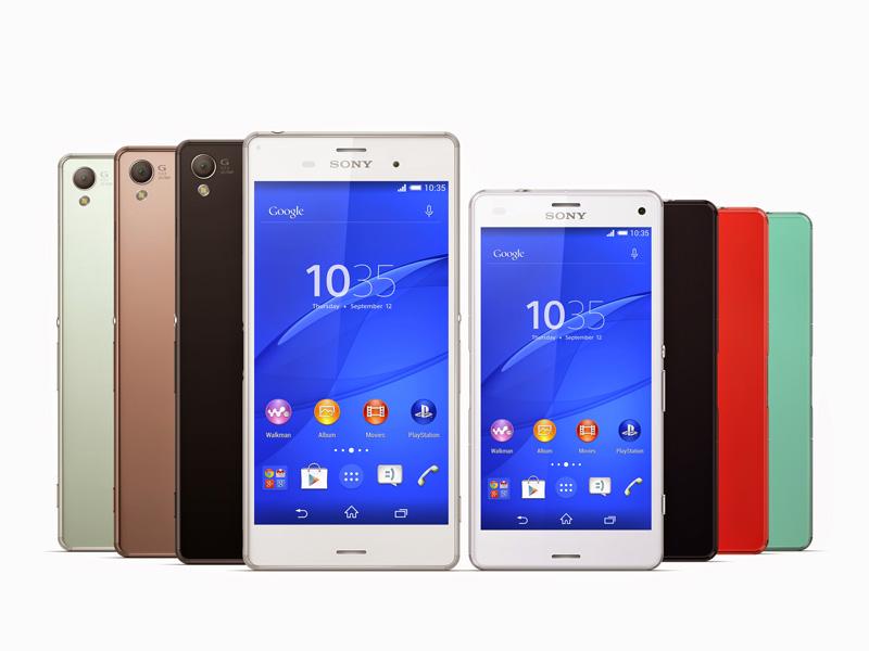 Sony Xperia Z3 und Z3 Compact. (Bild: Sony)