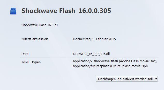 Adobe Flash Player: Ausführung nur nach Zustimmung (Screenshot: ZDNet.de)