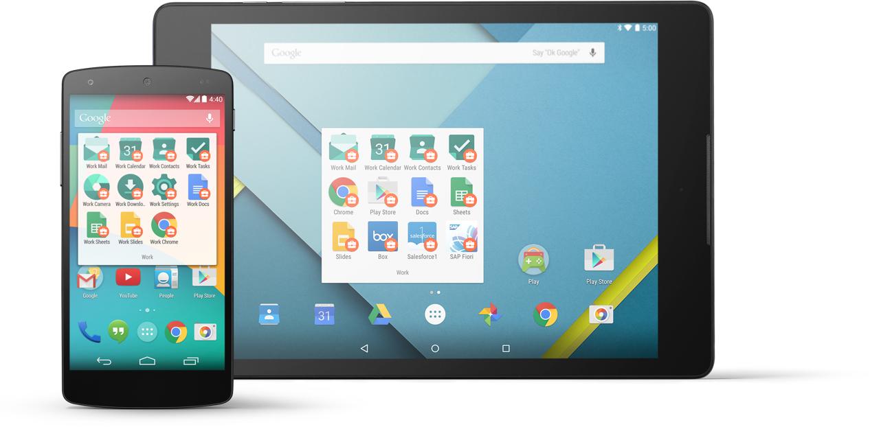 Dank Android for Work läuft jede neue App ohne Anpassungen auf sämtlichen Android-Geärten (Bild: Google)