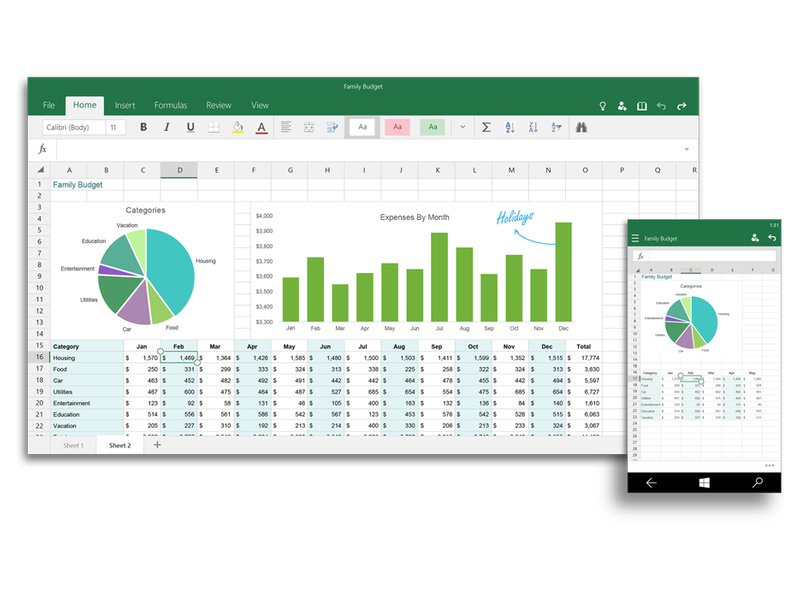 """Universelles"" Excel unter Windows 10 (Bild: Microsoft)"
