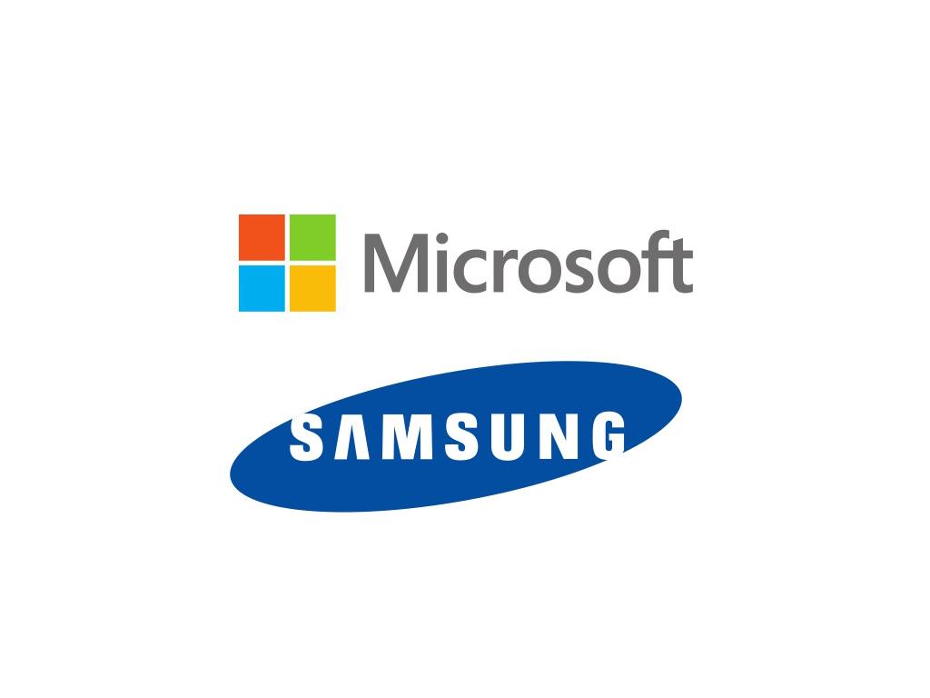Logos Microsoft Samsung (Bild: silicon.de)