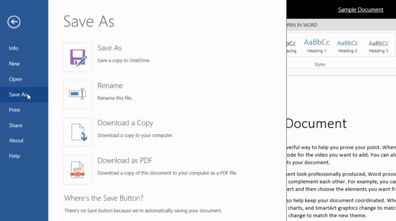 Unter anderem hat Microsoft den Dialog zum Speichern von Dateien überarbeitet (Bild: Microsoft).