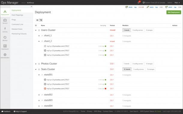 MongoDB-Server Deployment mit Ops Manager. (Bild: MongoDB)