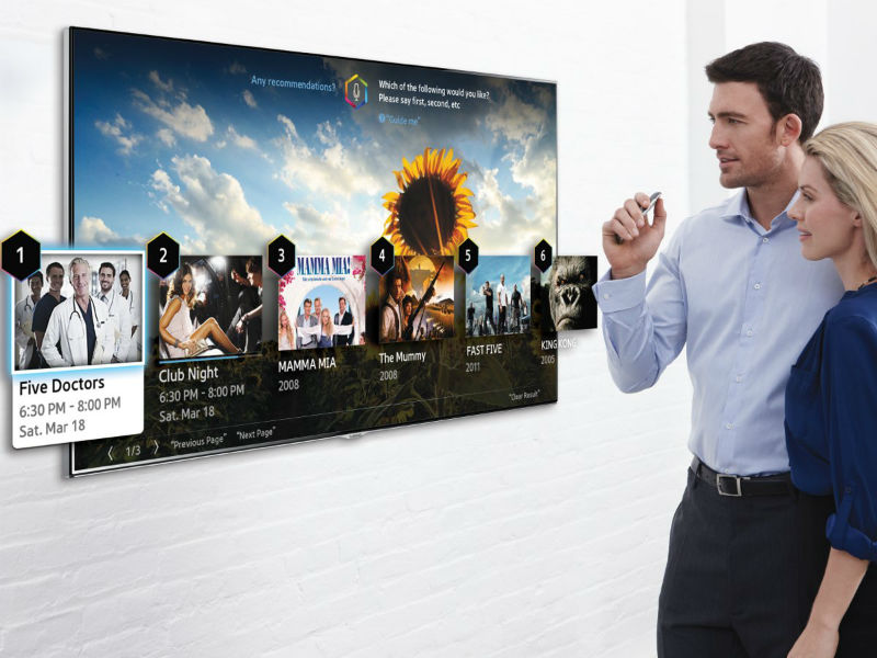 Samsung-Smart-TV mit Spracherkennung (Bild: Samsung)