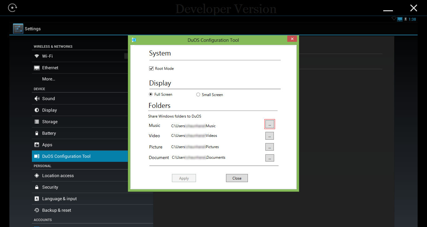 Die Android-Emulationslösung AMIDuOS liefert zahlreiche Konfigurationsmöglichkeiten. (Bild: American Megatrends)