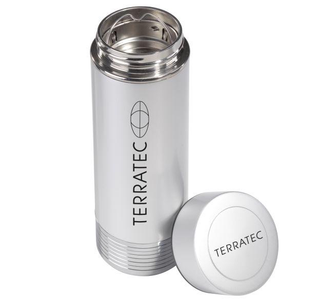 Der Terratec Hotpot macht aus heißem Wasser Entergie für Smartphone oder Laptop. (Bild: Terratec)