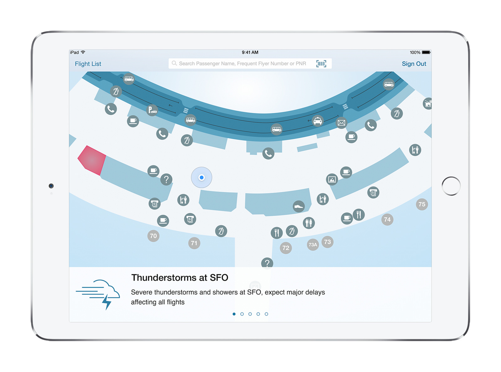 iOS-App Passenger Care (Bild: IBM)