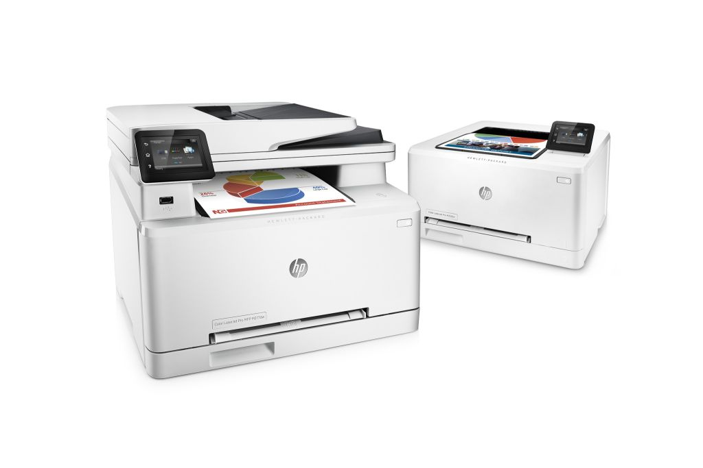HP Color LaserJet Pro M252 und HP Color LaserJet Pro MFP M277 (Bild: Hewlett-Packard).