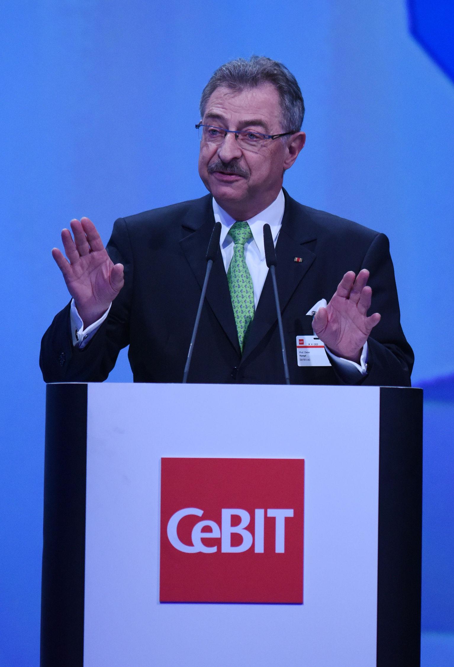 Präsident des BITKOM, Dieter Kempf. (Bild: CeBIT/Deutsche Messe)