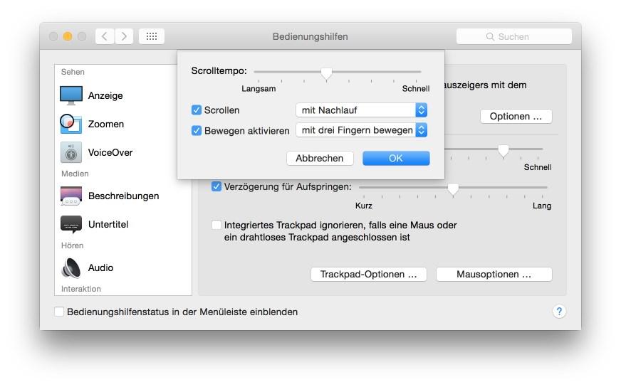 MacBook Pro Retina 13 Zoll: Drei-Finger-Geste. (Screenshot: ZDNet.de)