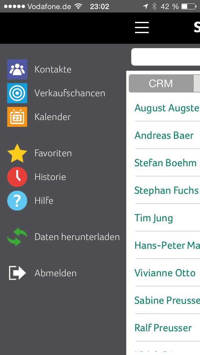 Sage CRM 7.3 auf einem Smartphone. (Bild: Sage)