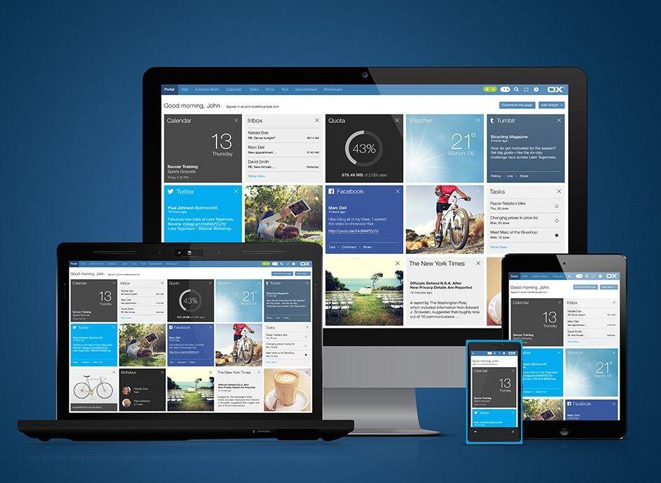 Die Open Xchange App Suite auf verschiedenen Geräten. (Bild: Open-Xchange)