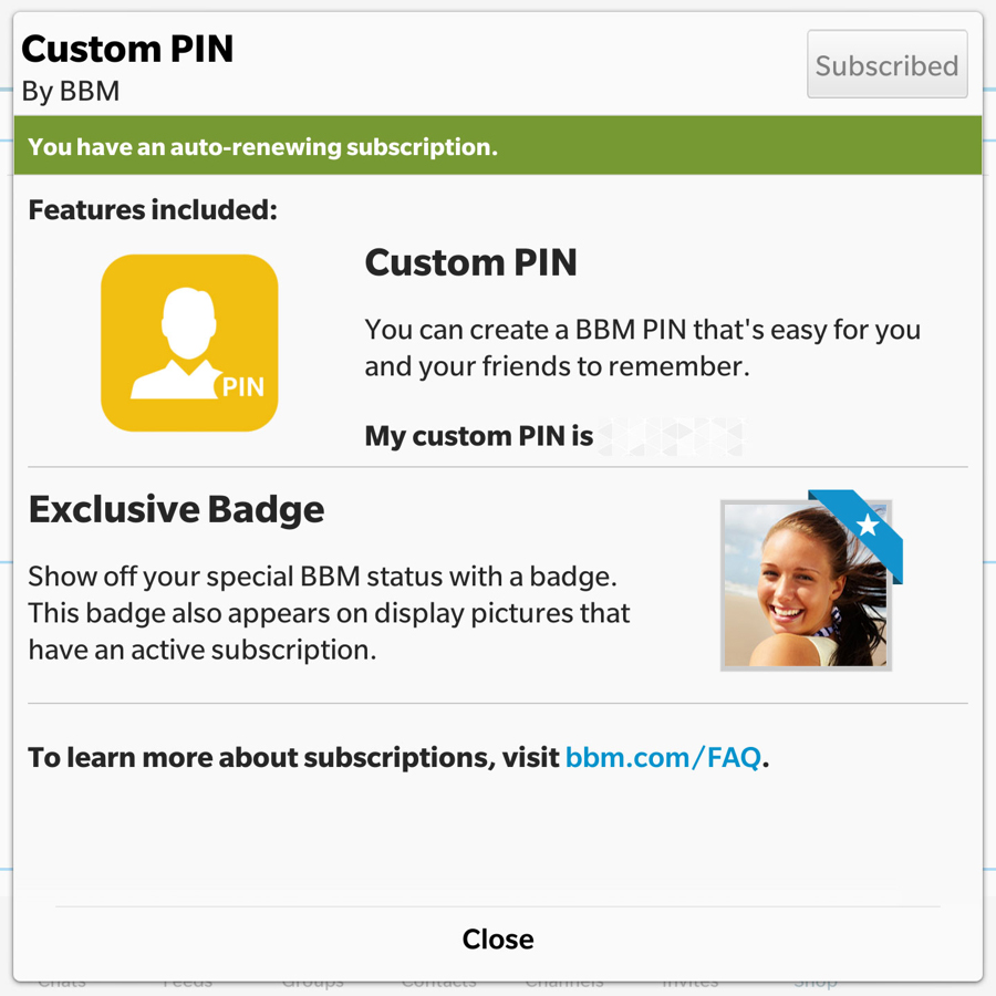 freiwählbare PIN BlackBerry Messenger (Bild: BlackBerry)