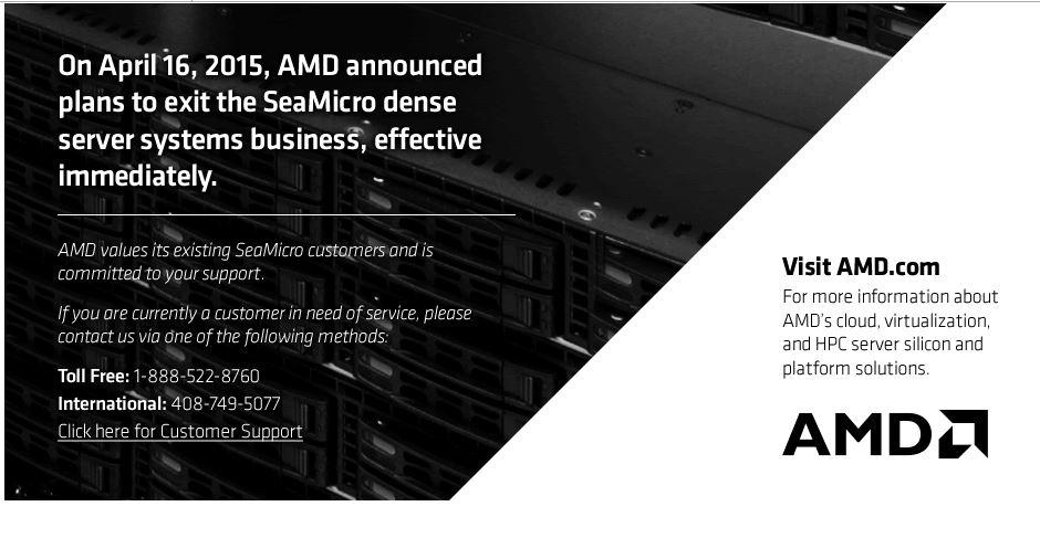 AMD trägt SeaMicro zu Grabe. (Bild: AMD)