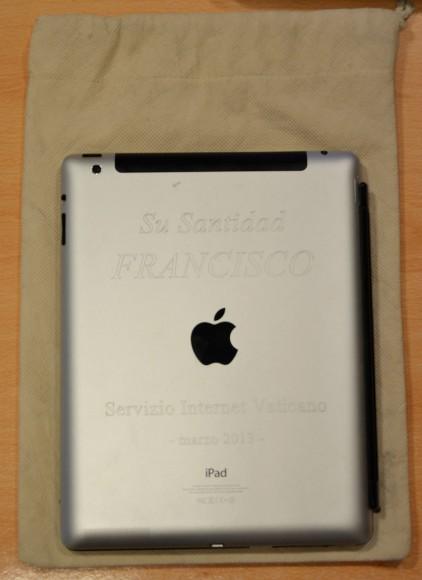 iPad von Papst Franciscus. (Bild: Castells)