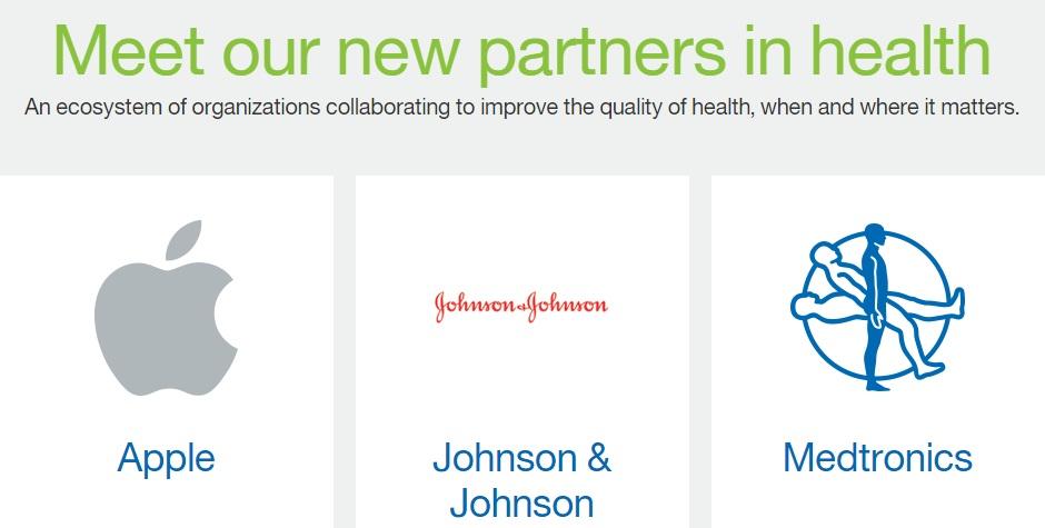 IBMs Partner für die Watson Health Cloud (Screenshot: ZDNet.de bei IBM)