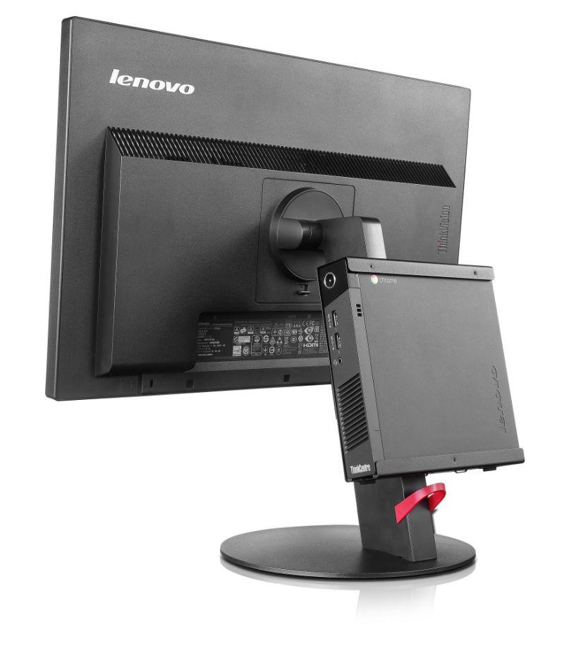 Die Chromebox kann auch auf der Rückseite eines Monitors montiert werden (Bild: Lenovo).