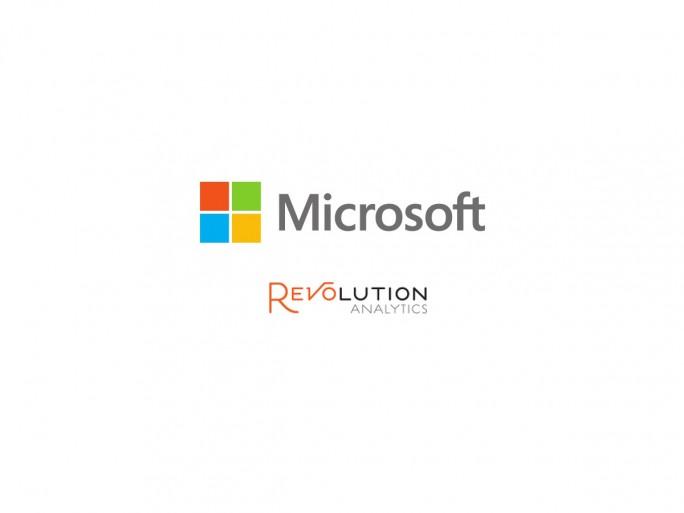 Logos Microsoft und Revolution Analytics (Bild: Silicon.de)