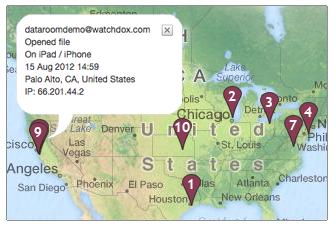 WatchDox erlaubt auch eine Lokalisierung von Dokumenten. (Bild: WatchDox)