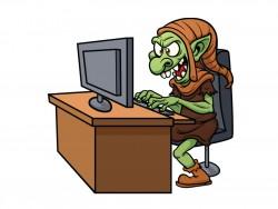 Troll vor Computer (Bild: Shutterstock/ Memo-Angeles)