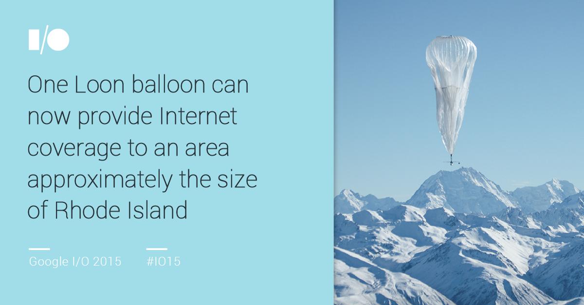 Ein Google-Ballon in der Stratosphäre kann ein Gebiet von 4000 Quadratkilometern mit 10 MBit/s versorgen (Folie: Google).