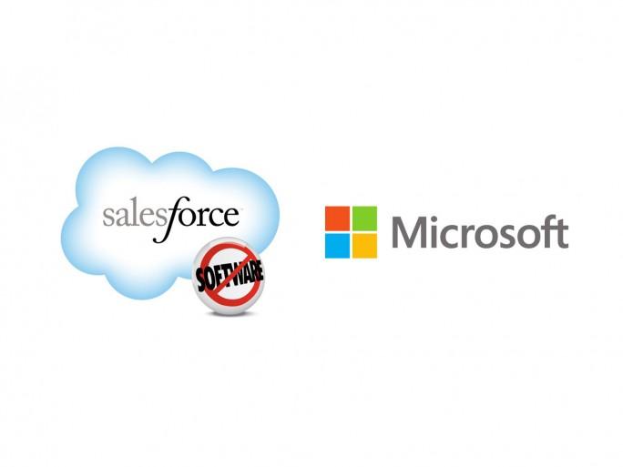 Logos Salesforce/Microsoft (Bild: Salesforce und Microsoft)